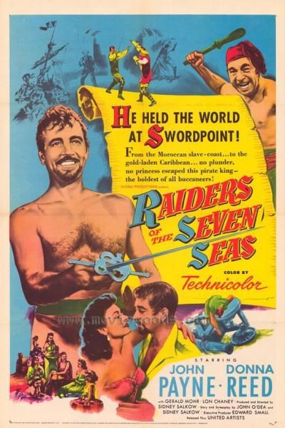 Caratula, cartel, poster o portada de El pirata de los siete mares