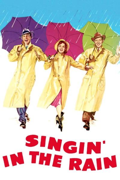 Caratula, cartel, poster o portada de Cantando bajo la lluvia