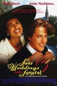 Caratula, cartel, poster o portada de Cuatro bodas y un funeral