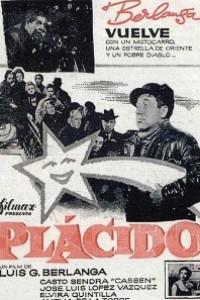 Caratula, cartel, poster o portada de Plácido