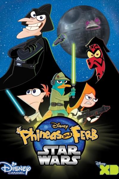 Caratula, cartel, poster o portada de La Guerra de las Galaxias de Phineas y Ferb