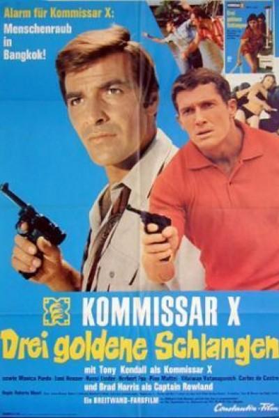 Caratula, cartel, poster o portada de Kommissar X - Drei goldene Schlangen