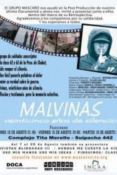 Caratula, cartel, poster o portada de Malvinas. Veinticinco años de silencio