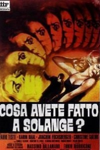 Caratula, cartel, poster o portada de ¿Qué habéis hecho con Solange?