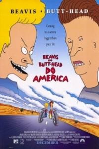 Caratula, cartel, poster o portada de Beavis y Butt-Head recorren América
