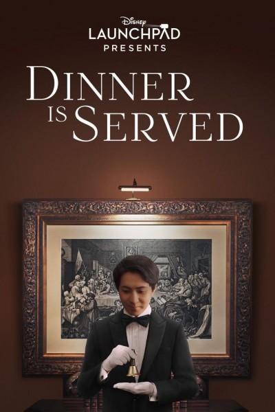 Caratula, cartel, poster o portada de La cena está servida