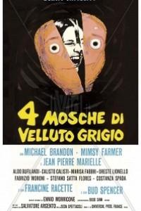 Caratula, cartel, poster o portada de Cuatro moscas sobre terciopelo gris