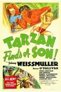 Caratula, cartel, poster o portada de Tarzán y su hijo
