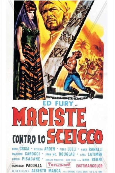 Caratula, cartel, poster o portada de Maciste contra el sheik