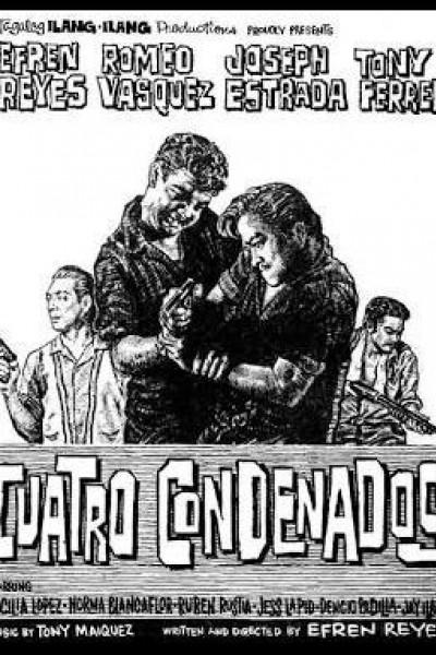 Caratula, cartel, poster o portada de Cuatro condenados