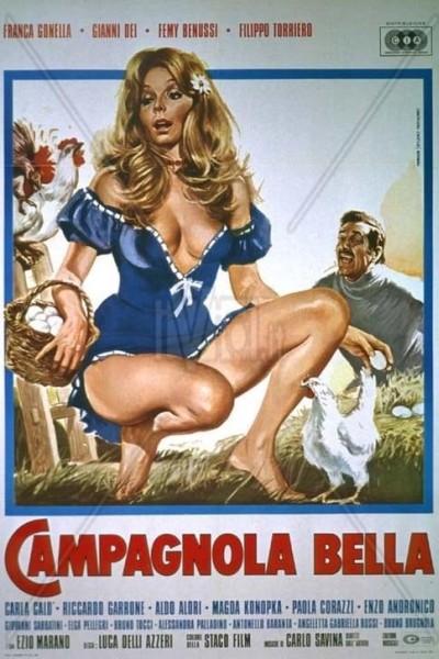 Caratula, cartel, poster o portada de La campagnola bella