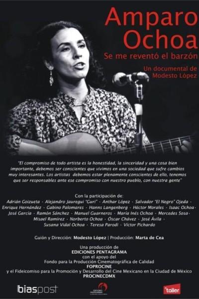 Caratula, cartel, poster o portada de Amparo Ochoa: Se me reventó el barzón