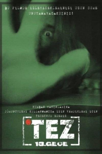 Caratula, cartel, poster o portada de Tez: 13. Gece