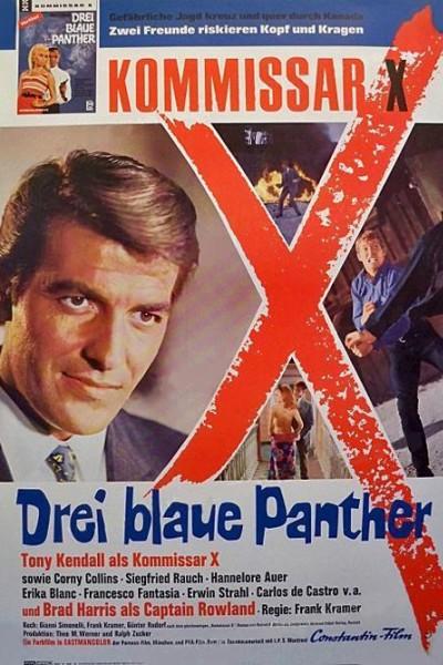 Caratula, cartel, poster o portada de Tres panteras azules