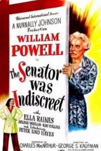 Caratula, cartel, poster o portada de El senador fue indiscreto