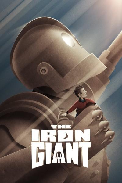 Caratula, cartel, poster o portada de El gigante de hierro