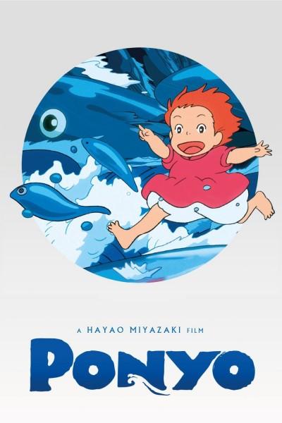 Caratula, cartel, poster o portada de Ponyo en el acantilado