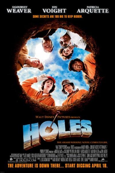 Caratula, cartel, poster o portada de La maldición de los hoyos (Holes)