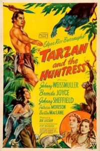 Caratula, cartel, poster o portada de Tarzán y la cazadora