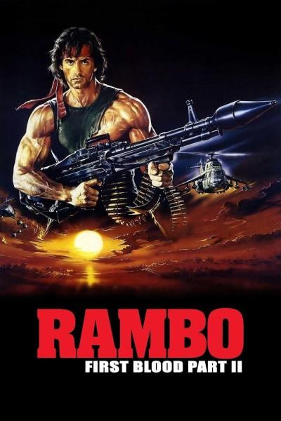 Caratula, cartel, poster o portada de Rambo: Acorralado Parte II (Rambo 2)