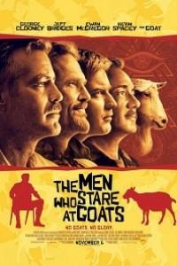 Caratula, cartel, poster o portada de Los hombres que miraban fijamente a las cabras