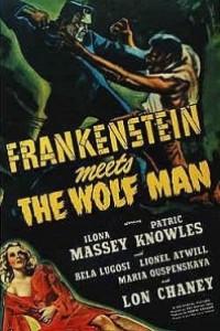 Caratula, cartel, poster o portada de Frankenstein y el Hombre Lobo
