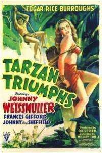 Caratula, cartel, poster o portada de El triunfo de Tarzán