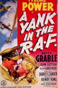 Caratula, cartel, poster o portada de Un americano en la R.A.F.