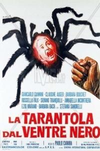 Caratula, cartel, poster o portada de La tarántula del vientre negro