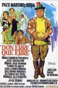 Caratula, cartel, poster o portada de Don Erre que erre