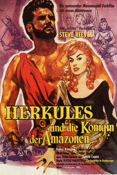 Caratula, cartel, poster o portada de Hércules y la reina de Lidia