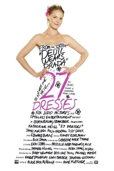 Caratula, cartel, poster o portada de 27 vestidos
