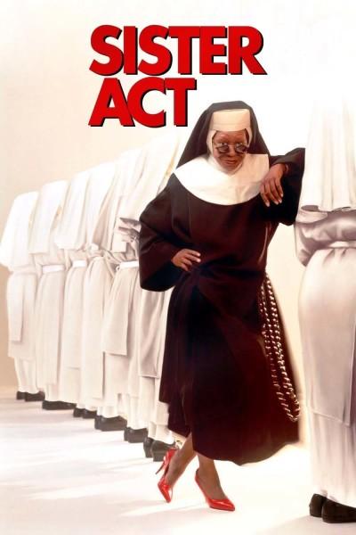 Caratula, cartel, poster o portada de Sister Act (Una monja de cuidado)