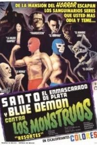 Caratula, cartel, poster o portada de Santo el enmascarado de plata y Blue Demon contra los monstruos