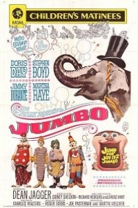 Caratula, cartel, poster o portada de Jumbo, la sensación del circo