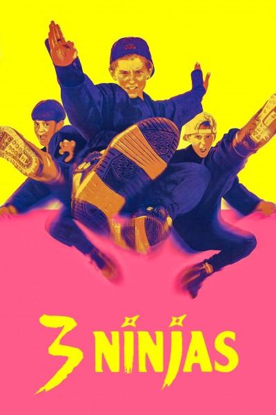 Caratula, cartel, poster o portada de 3 pequeños ninjas