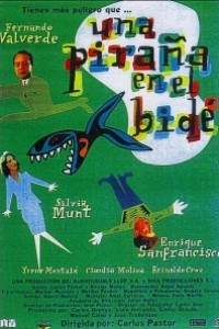 Caratula, cartel, poster o portada de Una piraña en el bidé