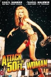 Caratula, cartel, poster o portada de El ataque de la mujer de 50 pies