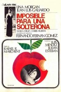 Caratula, cartel, poster o portada de Imposible para una solterona
