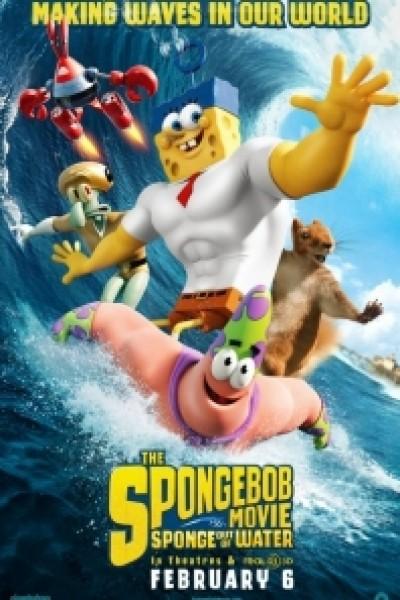Caratula, cartel, poster o portada de Bob Esponja: Un héroe fuera del agua