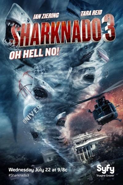 Caratula, cartel, poster o portada de Sharknado 3