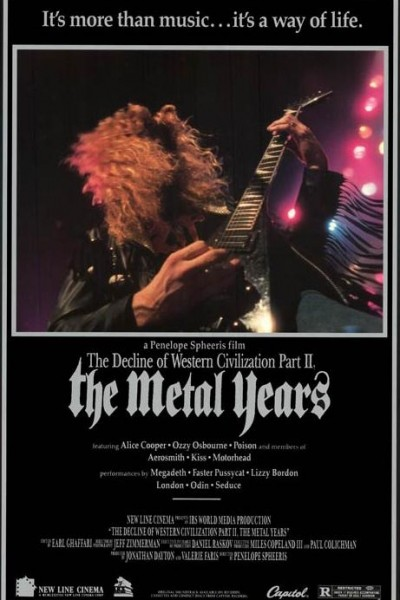 Caratula, cartel, poster o portada de The Decline of Western Civilization Part II: The Metal Years