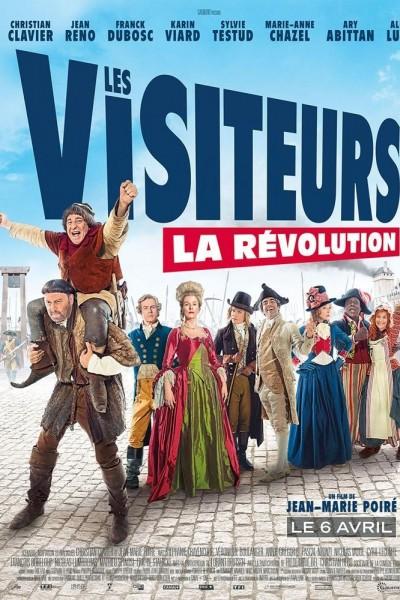Caratula, cartel, poster o portada de Los visitantes la lían (En la Revolución Francesa)