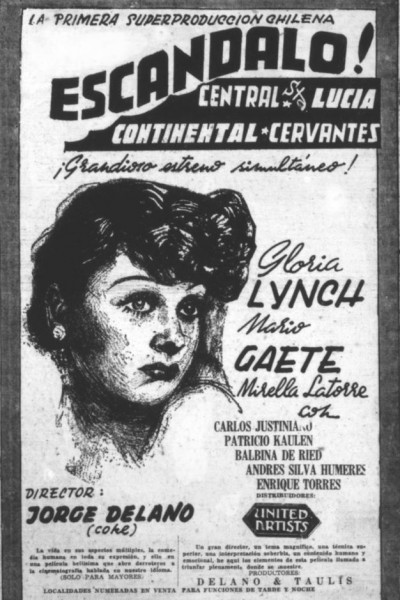 Caratula, cartel, poster o portada de Escándalo