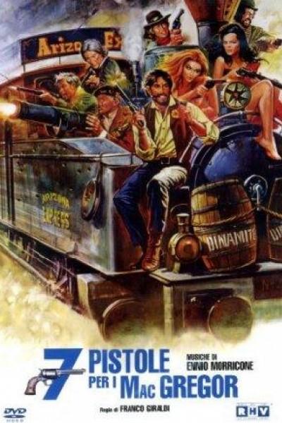 Caratula, cartel, poster o portada de Siete pistolas para los MacGregor