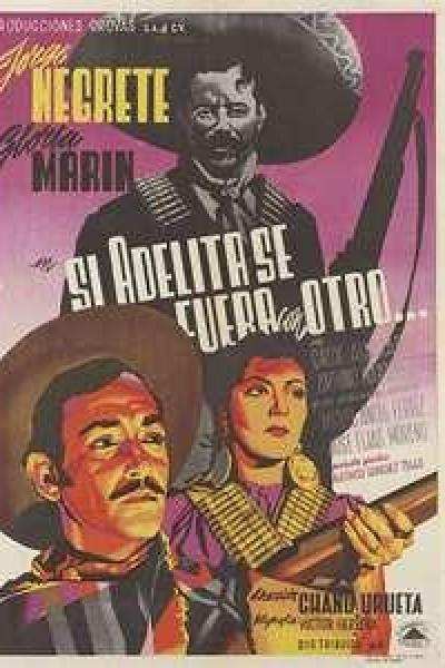 Caratula, cartel, poster o portada de Si Adelita se fuera con otro