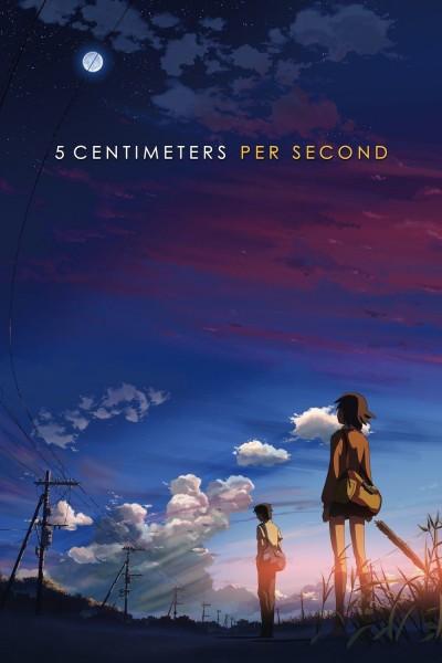 Caratula, cartel, poster o portada de 5 centímetros por segundo