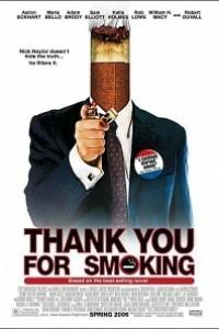 Caratula, cartel, poster o portada de Gracias por fumar