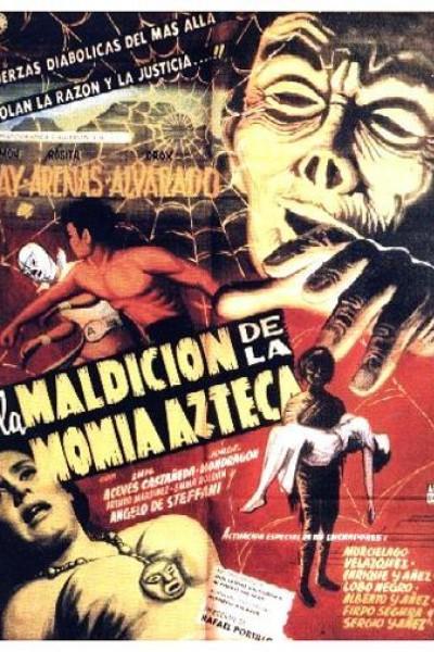 Caratula, cartel, poster o portada de La maldición de la momia azteca