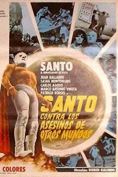 Caratula, cartel, poster o portada de Santo contra los asesinos de otros mundos